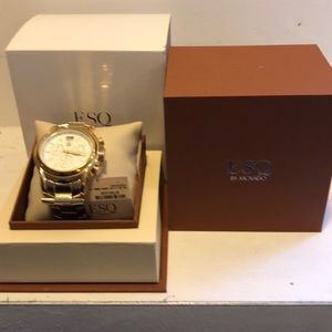 Unisex ESQ Day/Date Chronograph Fashion Watch EUC